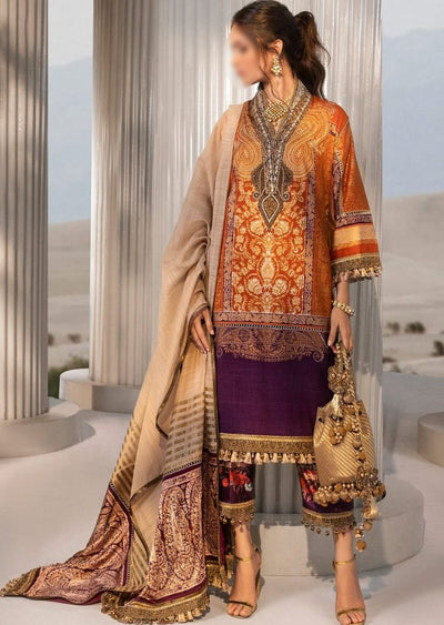 B201-B - Unstitched Kurnool Luxury Collection By Sana Safinaz 2020 - Memsaab Online