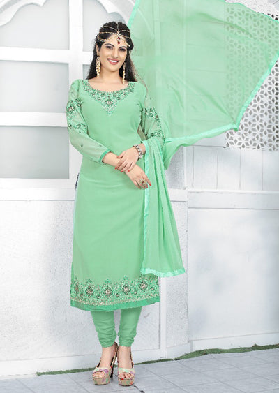 Unstitched - Prafful Indian Designer Georgette Suit - Memsaab Online