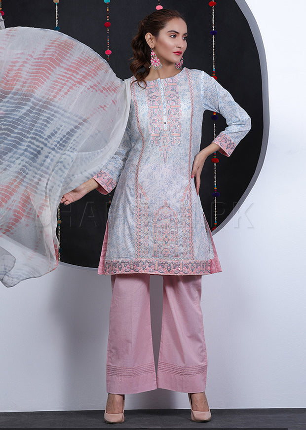 Grey - Sha Posh - Readytowear - Lawn - Pakistani Casual-wear Design - Memsaab Online