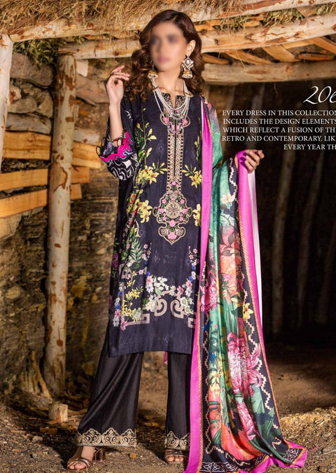 ES206 - Unstitched - EshaMinhal Festive Collection Vol 1 By Jubilee textiles 2020 - Memsaab Online