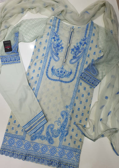 2080 Readymade Sha Posh Embroidered Lawn Suit - Memsaab Online