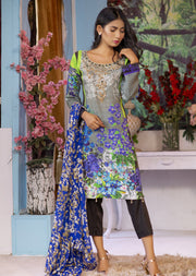 EST209 - Estelle Vol 2 - Readymade Premium Winter Linen Suit with Handwork - Pakistani Designerwear - Memsaab Online