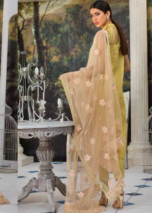 2208-POISED-BOROFUEL MOTIFZ EMBROIDERED LAWN 2019 - Pakistani Luxury lawn chicken salwar kameez designer - Memsaab Online