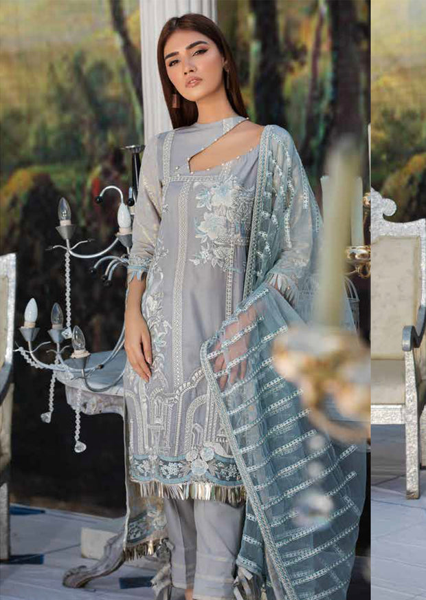 2210-ROMAN-GLEAM MOTIFZ EMBROIDERED LAWN 2019 - Pakistani Luxury lawn chicken salwar kameez designer - Memsaab Online