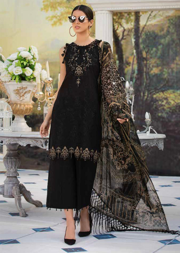 2212-BLACK-DIAMOND MOTIFZ EMBROIDERED LAWN 2019 - Pakistani Luxury lawn chicken salwar kameez designer - Memsaab Online
