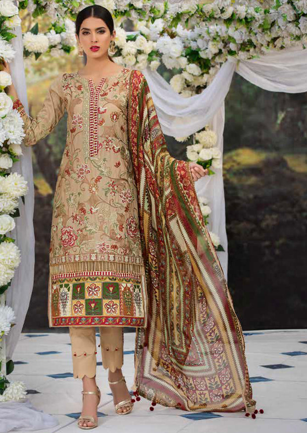 2214-REGAL-KANTHA MOTIFZ EMBROIDERED LAWN 2019 - Pakistani Luxury lawn chicken salwar kameez designer - Memsaab Online