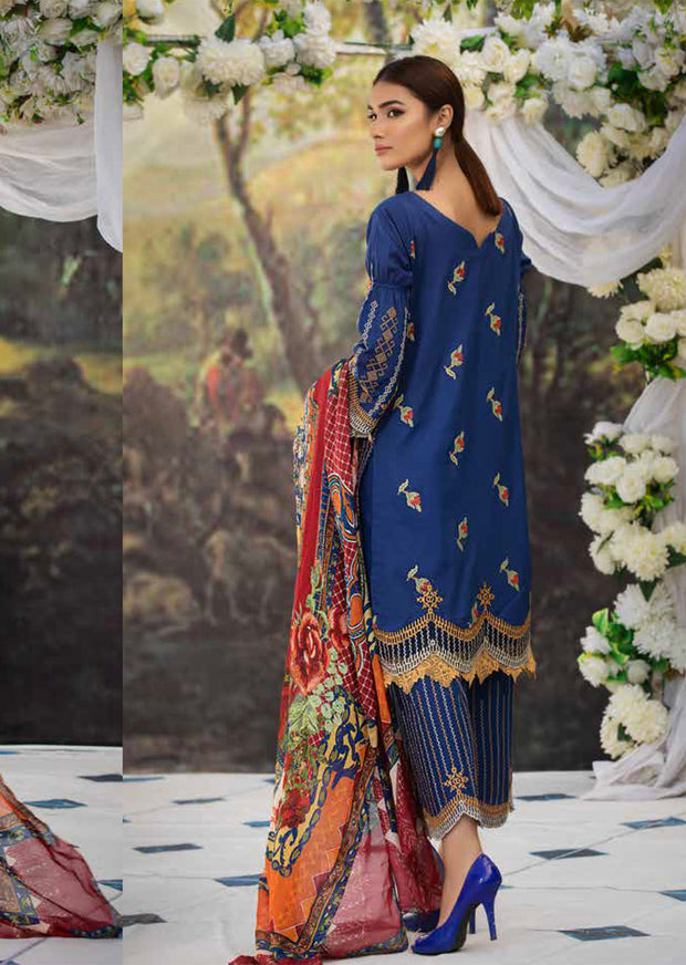 2215-CROSS-STITCH-BUNCH MOTIFZ EMBROIDERED LAWN 2019 - Pakistani Luxury lawn chicken salwar kameez designer - Memsaab Online