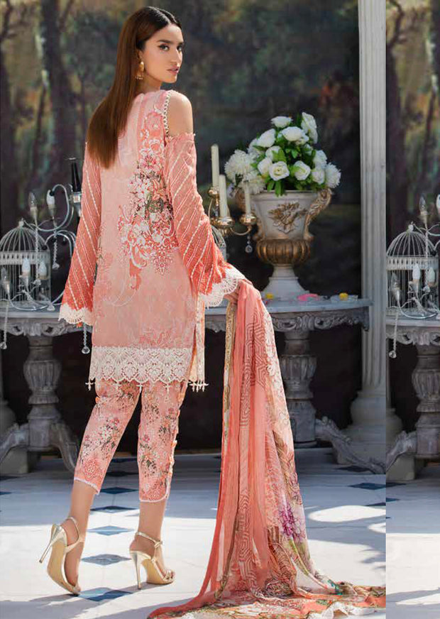 2218-CHANTILLY-GRACE MOTIFZ EMBROIDERED LAWN 2019 - Pakistani Luxury lawn chicken salwar kameez designer - Memsaab Online
