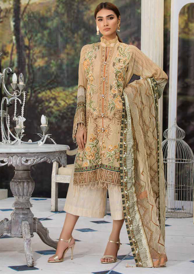2220-JEWELLED-CHEVRON MOTIFZ EMBROIDERED LAWN 2019 - Pakistani Luxury lawn chicken salwar kameez designer - Memsaab Online