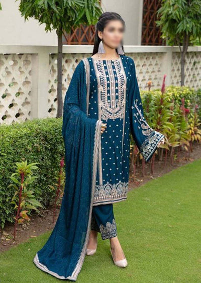 JH-023-A Unstitched Chaman Winter Coll' by Johra - Memsaab Online