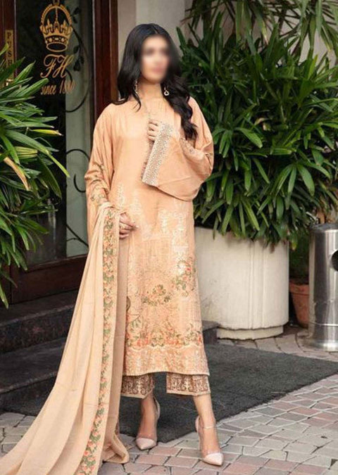 JH-025-B Unstitched Chaman Winter Coll' by Johra - Memsaab Online