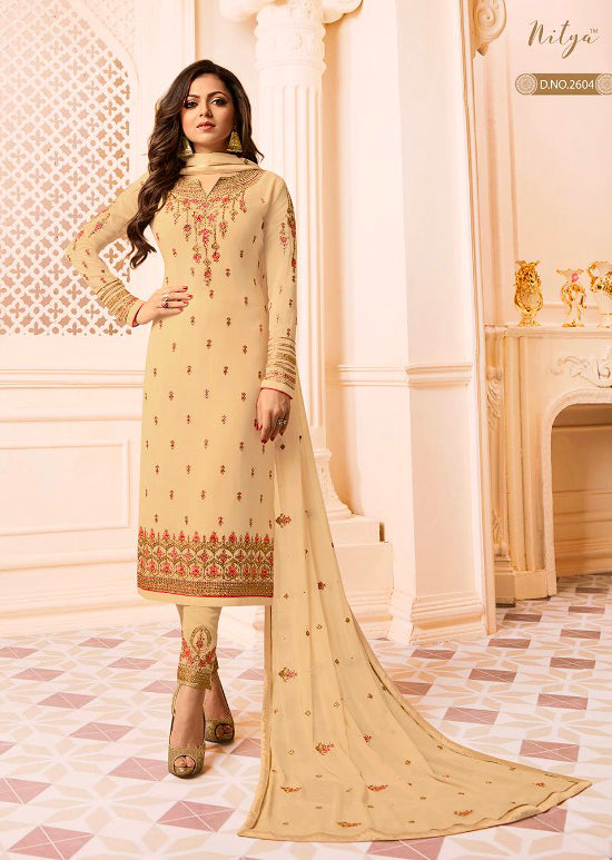 2604 Nitya Inspired Embroidered Salwar Kameez - Replica - Memsaab Online