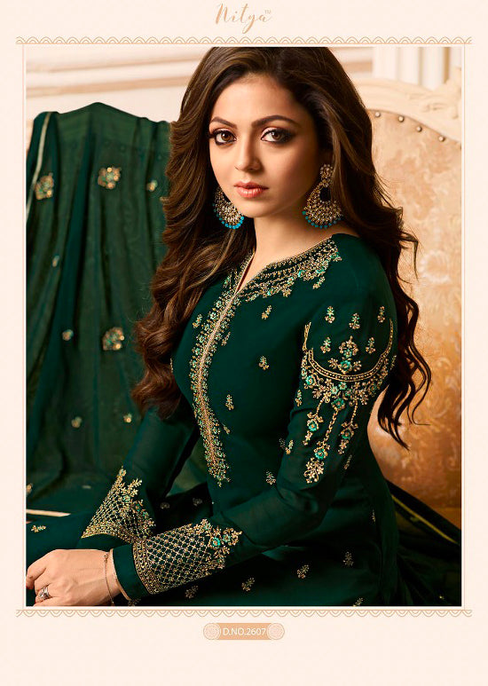 2607 Nitya Inspired Embroidered Salwar Kameez - Replica - Memsaab Online