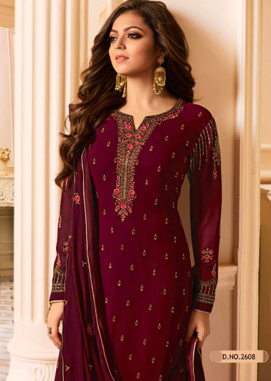 2608 Nitya Inspired Embroidered Salwar Kameez - Replica - Memsaab Online