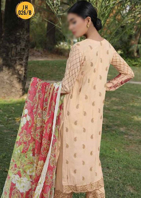 JH-026-B Unstitched Chaman Winter Coll' by Johra - Memsaab Online