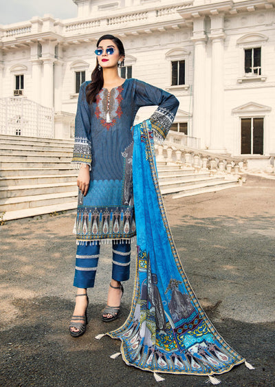 NS02 - Unstitched - Nishat Maysoori Embroidered Collection Vol 1 - Memsaab Online