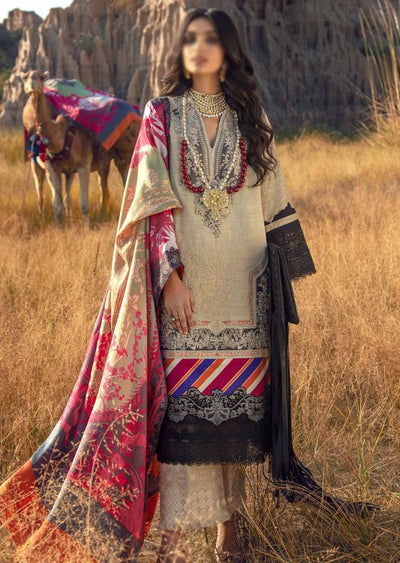 SNS02-A - Unstitched - Sana Safinaz Fall/Winter Collection 2020 - Memsaab Online