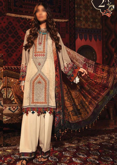 MIR-2A - Unstitched Maria B Inspired Winter Twill Suit - Memsaab Online