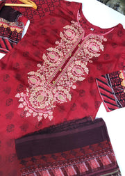 BA2611 A Readymade Embroidered Lawn Suit - Memsaab Online