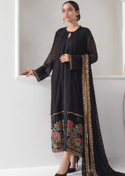 ALZ02 - Midnight Glare - Unstitched - Alizeh Chiffon Collection Vol 1 2020 - Memsaab Online