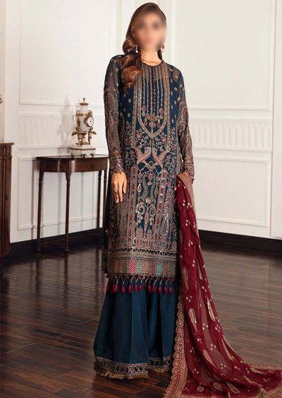 JZA02 - Palais - Unstitched - Jazmin Eid Festive Chiffon Collection 2021 - Memsaab Online