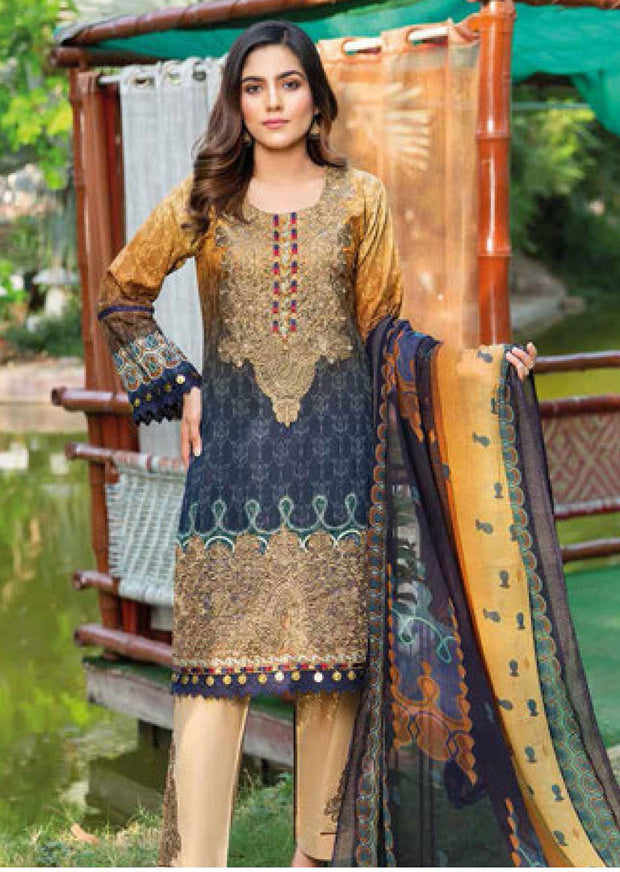 MSSL02 - Readymade - Munira Digital Airjet Lawn Collection 2020 - Memsaab Online