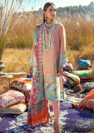 SNS02-B - Unstitched - Sana Safinaz Fall/Winter Collection 2020 - Memsaab Online