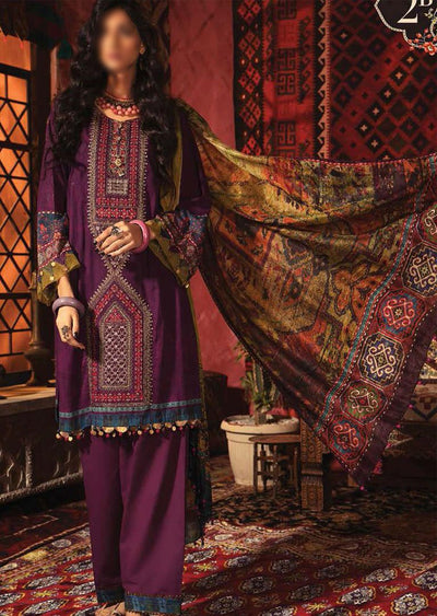 MIR-2B - Unstitched Maria B Inspired Winter Twill Suit - Memsaab Online