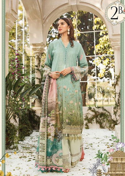 MBS02 - B - Unstitched - Maria B MPrints Summer Collection 2020 - Memsaab Online