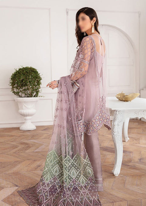 JAZ02 - Azel - Unstitched - Jazmin Mahpare Luxury Chiffon Collection 2020 - Memsaab Online