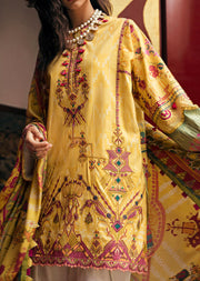02 Canary Aztec - Epoque Suffuse by Sana Yasir Lawn 2019 - Embroidered Pakistani designerwear UK Delivery - Memsaab Online