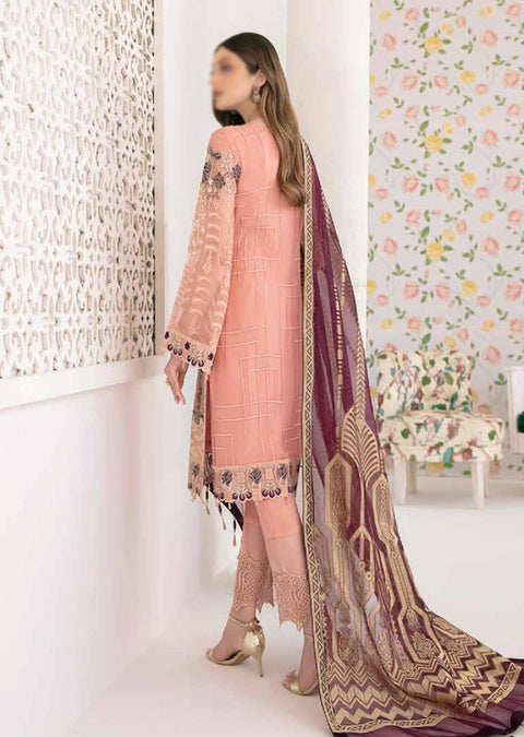 M-302 - Unstitched - Minhal Vol 3 Collection by Ramsha 2020 - Memsaab Online