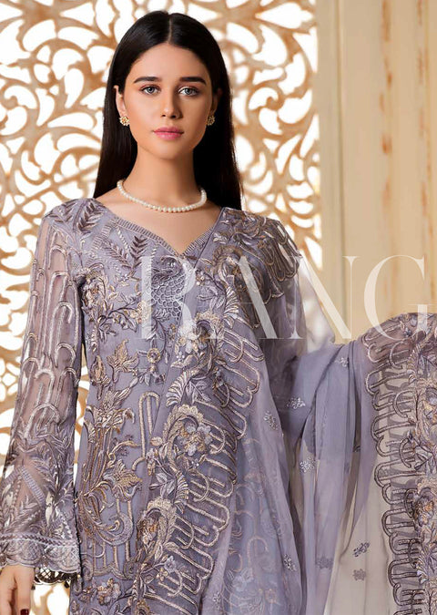 Lilac Lea - Ramsha Rangoon READYMADE vol 3 Pakistani designer chiffon collection wedding Eid Partywear - Memsaab Online
