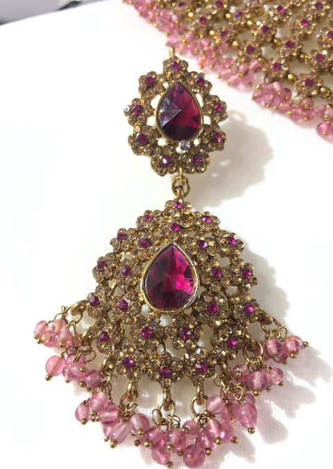 Hot Pink Necklace set - Memsaab Online