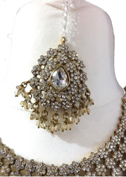 Gold/White Necklace set - Memsaab Online