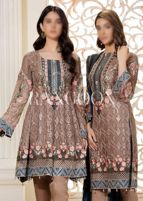 D305 Mystic Sea - Ramsha Rangoon vol 3 READYMADE Pakistani designer chiffon collection wedding Eid Partywear - Memsaab Online