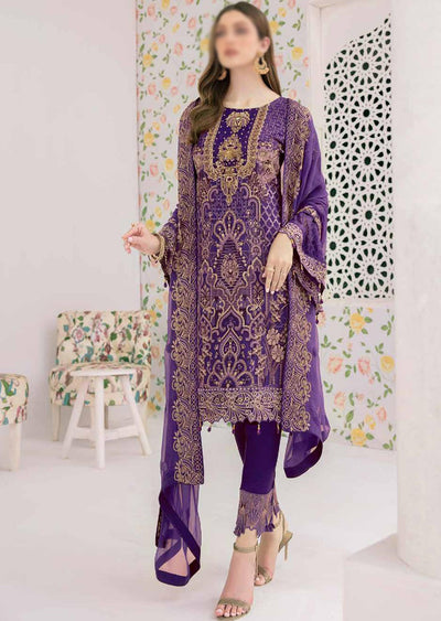 M-306 - Unstitched - Minhal Vol 3 Collection by Ramsha 2020 - Memsaab Online