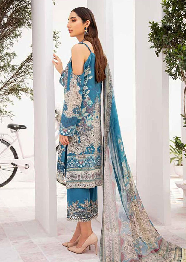 C-306 Unstitched Chevron Luxury Lawn Vol 3 - Memsaab Online