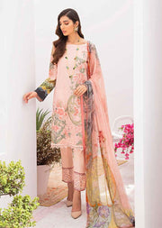 C-307 Unstitched Chevron Luxury Lawn Vol 3 - Memsaab Online