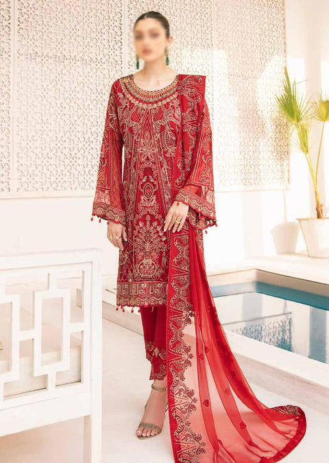 M-308 - Unstitched - Minhal Vol 3 Collection by Ramsha 2020 - Memsaab Online