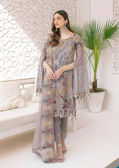M-309 - Unstitched - Minhal Vol 3 Collection by Ramsha 2020 - Memsaab Online