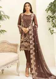 RA-309 - Unstitched - Chevron Vol 3 Chiffon Collection by Ramsha 2021 - Memsaab Online