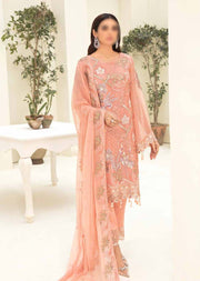 RA-310 - Unstitched - Chevron Vol 3 Chiffon Collection by Ramsha 2021 - Memsaab Online