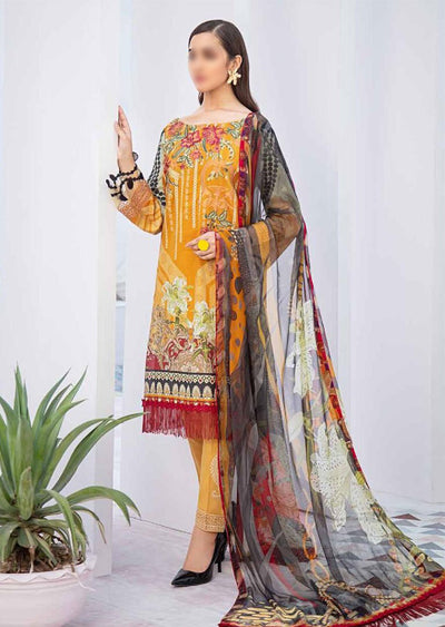 C-311 Readymade Chevron Luxury Lawn Vol 3 - Memsaab Online