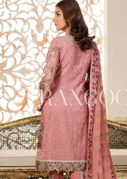 D-312 Powder Pink - Ramsha Rangoon vol 3 Unstitched Pakistani designer chiffon collection wedding Eid Partywear - Memsaab Online