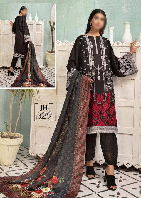 JH-329 Unstitched Nigar Winter Coll' by Johra - Memsaab Online