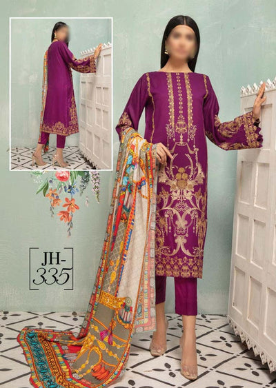 JH-335 Unstitched Nigar Winter Coll' by Johra - Memsaab Online