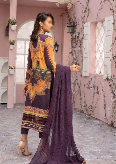 JR-366 - Readymade - Dior Digital Printed Suit by Johra 2021 - Memsaab Online