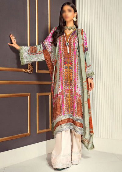 M203-003A - Unstitched - Sana Safinaz Muzlin Winter Collection 2020 - Memsaab Online