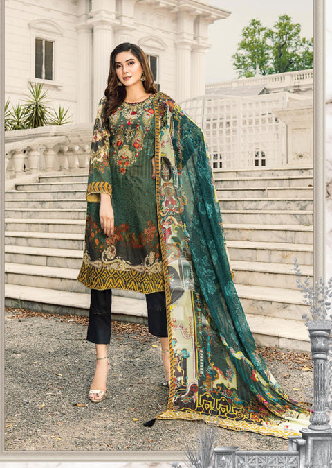 NS03 - Unstitched - Nishat Maysoori Embroidered Collection Vol 1 - Memsaab Online